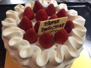 1月生まれバースデーケーキ